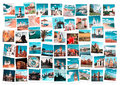 Travel in europe collage and nature toned images Royalty Free Stock Photos