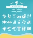 Travel flat icon set with lable vector eps Royalty Free Stock Photos