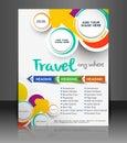 Travel Flyer Royalty Free Stock Photo