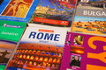 Travel guides of different countries Royalty Free Stock Photography
