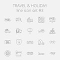 Travel and holiday icon set Royalty Free Stock Photo