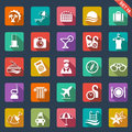 Travel and hotel icons set of Stock Images
