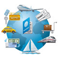 Travel icon concept illustration of Royalty Free Stock Photos