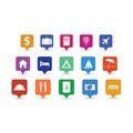 Travel icon pins set Royalty Free Stock Image