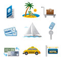 Travel icon set of different icons Royalty Free Stock Photo