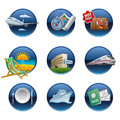 Travel icon set different kind of and tourism Stock Photos