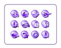 Travel Icon Set, Purple Royalty Free Stock Images