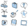 Travel icon set vector Royalty Free Stock Photo