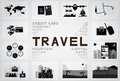 Travel icon and text Royalty Free Stock Photo