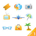 Travel icons 1 Stock Photography