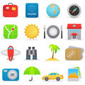 Travel icons Stock Photography