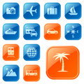Travel icons / buttons Stock Image