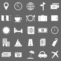 Travel icons on gray background stock vector Royalty Free Stock Images