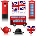 Travel icons london and uk set of the united kingdom Royalty Free Stock Photo