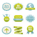 Travel icons over white background vector illustration Royalty Free Stock Photo
