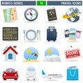 Viajar icono serie
