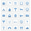 Travel icons set Stock Photography