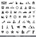 Travel icons set of design elements Stock Photography