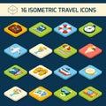 Travel icons set Royalty Free Stock Photo