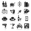 Travel icons set illustration Stock Images