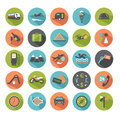 Travel icons set of modern flat design elements Royalty Free Stock Photos