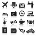 Travel icons set vector illustration Stock Photos