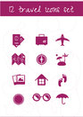 Travel icons set of vector on neutral background Royalty Free Stock Photos