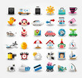 Travel icons symbol collection Royalty Free Stock Images