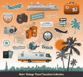 Travel icons symbol collection Royalty Free Stock Photo