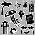 Travel icons vector Royalty Free Stock Images
