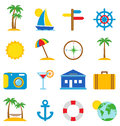 Travel icons on a white background vector illustration Stock Images