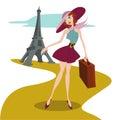 Travel illustration vector Stock Photos