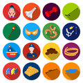 Travel, industry, business and other web icon in flat style.lake, water, recreation icons in set collection. Royalty Free Stock Photo