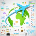 Travel infographic chart illustration of for presentation Stock Photos