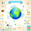 Travel infographic chart illustration of for presentation Royalty Free Stock Photography