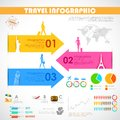 Travel infographic illustration of chart for presentation Stock Photos