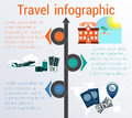 Travel infographic. Template 3 positions. Vector illustration