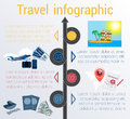 Travel infographic. Template 4 positions. Vector illustration