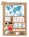 Travel Infographics.Preparation for the trip vacation vector. Royalty Free Stock Photo