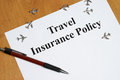 Travel insurance peace of mind comes with the purchase of Royalty Free Stock Images