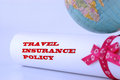 Travel insurance policy Royalty Free Stock Photo