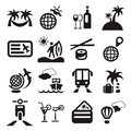Travel ions elegant icons set created for mobile web and applications Stock Image