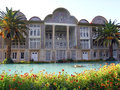 Travel iran qavam house in shiraz beautiful qajar era architecture example botanical garden Stock Photo