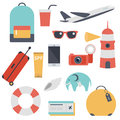 Travel kit, collection of touristic things
