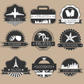 Travel labels Royalty Free Stock Photo