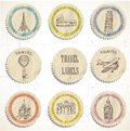 Travel labels Royalty Free Stock Photos