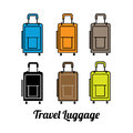 travel luggage color