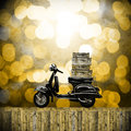 Travel with motorcycles concept in vintage style Royalty Free Stock Image