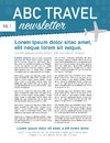 Travel newsletter page layout Royalty Free Stock Photo