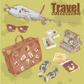 Travel objects collection Royalty Free Stock Photo